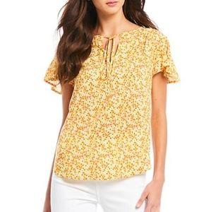 Draper James floral print blouse size -6